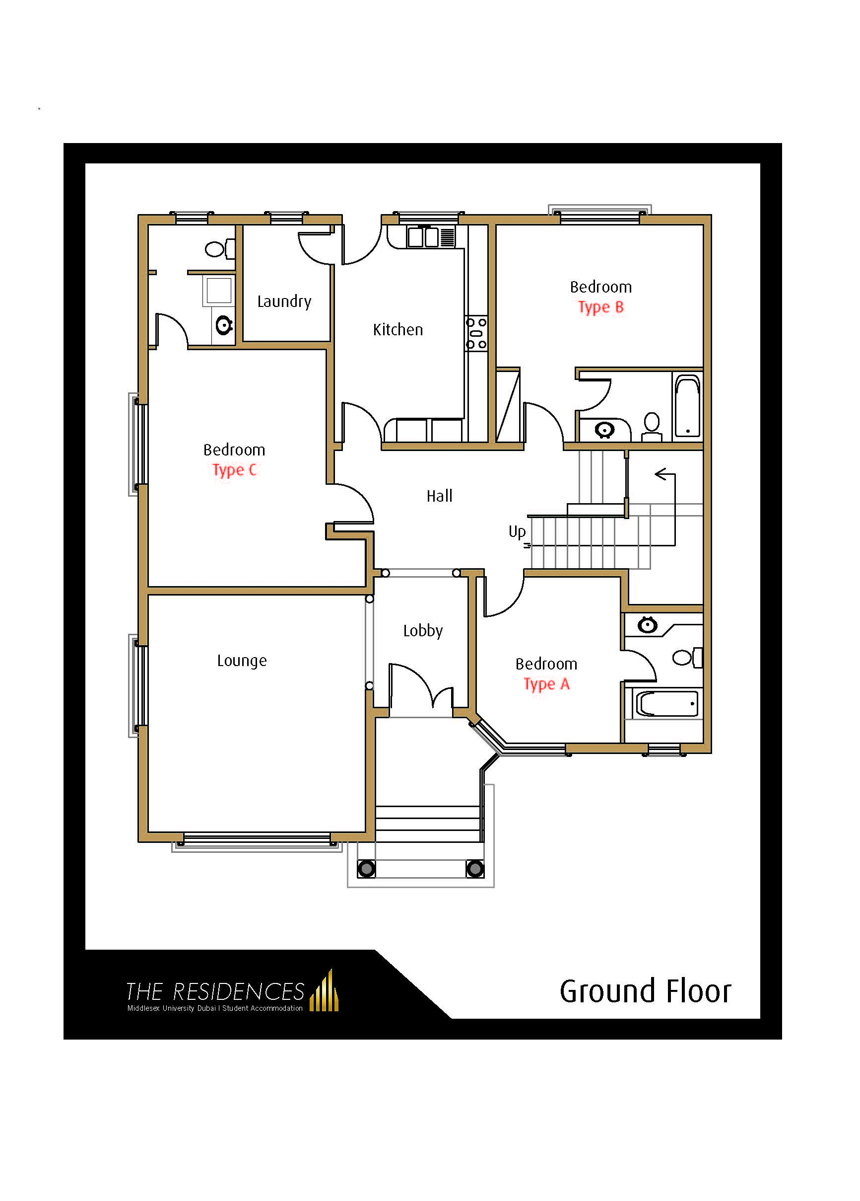 The Residences Ground floor map